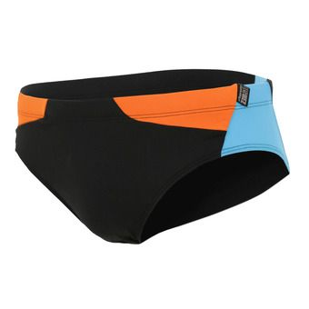 Z3Rod BRIEFS - Swimming Brief - Men's - black/atoll/orange