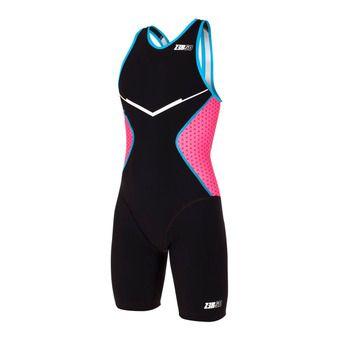 Z3Rod RACER - Trisuit - Women's - black/pink/atoll