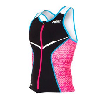 Z3Rod RACER - Triathlon Jersey - Women's - black/pink/atoll