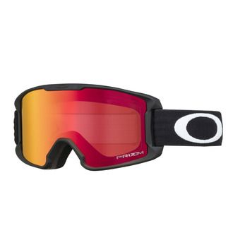 Oakley LINE MINER - Masque ski Junior matte black/prizm snow torch iridium