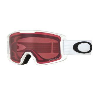 Oakley LINE MINER - Gafas de esquí junior matte white/prizm rose
