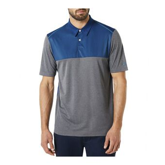 Polo MC homme COLOR BLOCK athletic heather grey