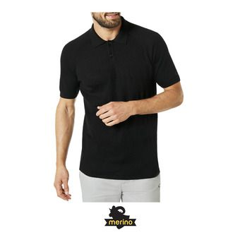 Polo MC homme ENGINEERED KNIT blackout