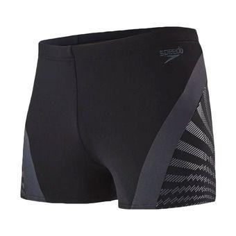 Boxer de bain homme CHEVRON SPLICE black/grey