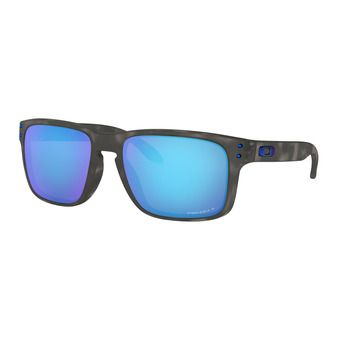 Oakley HOLBROOK - Polarised Sunglasses - matt black tortoise/prizm sapphire