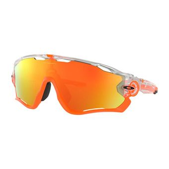 Oakley JAWBREAKER - Sunglasses - matt clear/fire iridium