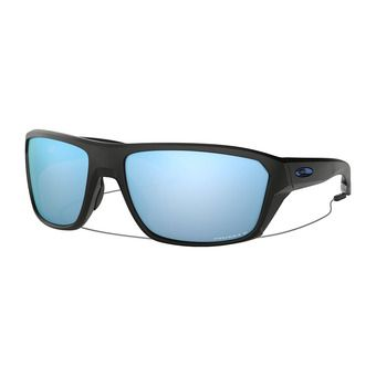 Oakley SPLIT SHOT - Polarised Sunglasses - matt black/prizm deep water polarized
