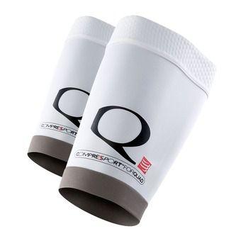 Compressport FOR QUAD - Espinillera white