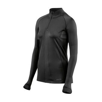 Maillot 1/2 zippé ML femme DNAMIC ULTIMATE black