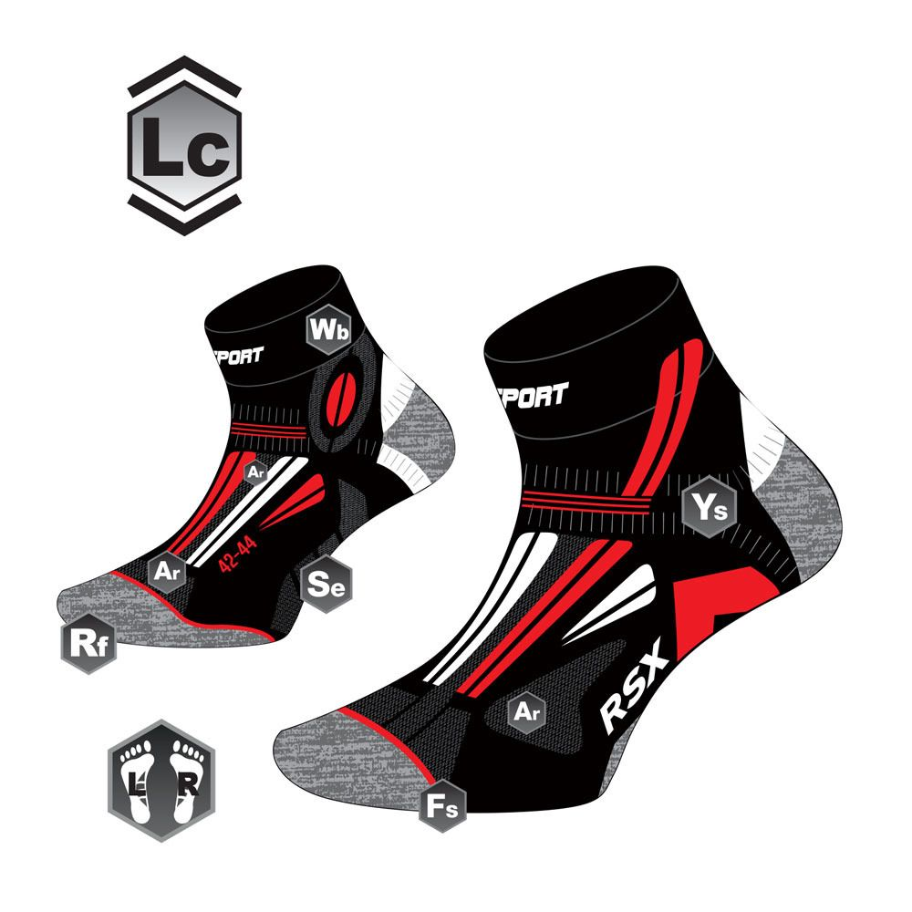 Bv Sport Rsx Evo Collector Army Chaussettes Blanc Rouge