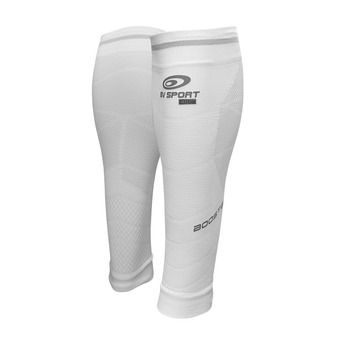 Bv Sport BOOSTER ELITE EVO2 - Calf Sleeves - white