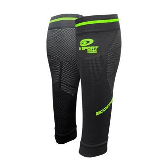 Bv Sport BOOSTER ELITE EVO2 - Calf Sleeves - black/green