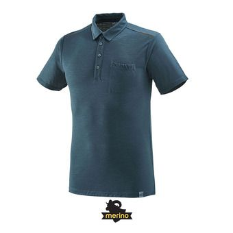 Millet IMJA WOOL - Polo Homme orion blue