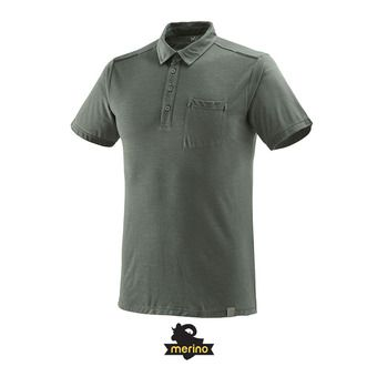 Polo MC homme IMJA WOOL castle gray