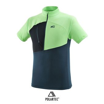 Maillot 1/2 zippé MC homme ELEVATION orion blue/flash green