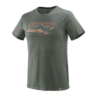 Tee-shirt MC homme SEVAN WOOL castle gray