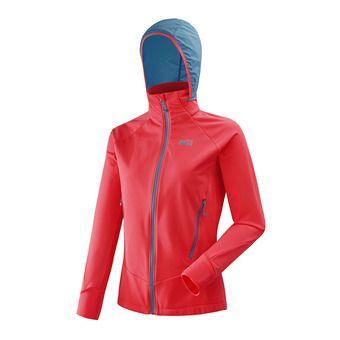 Veste à capuche femme PERRA MENT II poppy red/cosmic blue