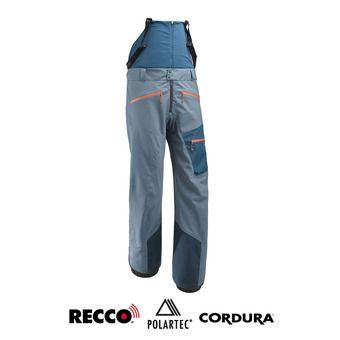 Pantalon de ski à bretelles homme WHITE NEO 3LS teal blue/poseidon