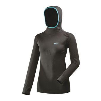 Sous-couche ML à capuche femme TOURING noir/enamel blue