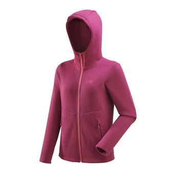 Polaire zippée à capuche femme HICKORY beaujolais