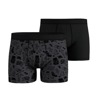 Pack de 2 boxers hombre ACTIVE SUMMER SPLASH odlo graphite grey