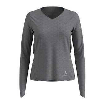 Camiseta mujer LOU light grey melange