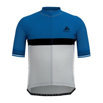Maillot MC zippé homme ZEROWEIGHT CERAMICOOL PRO nebulas blue/white