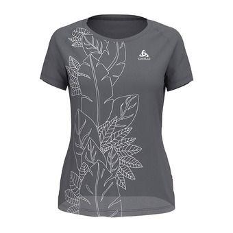 Odlo CONCORD - T-Shirt - Women's - grey marl/flower leaf print