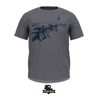 Odlo CONCORD - Tee-shirt Homme grey melange/mountain print