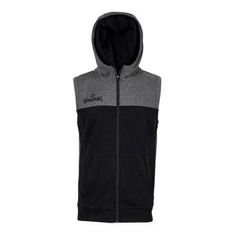 Sweat à capuche zippé sans manche homme STREET noir/anthracite chiné