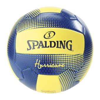 Spalding HURRICANE - Ballon beach volley jaune fluo/marine