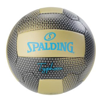 Spalding TYPHOON - Ballon beach volley or/noir