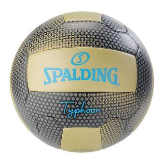 Spalding TYPHOON - Balón de vóley playa dorado/negro