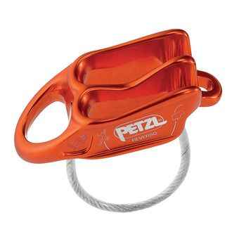 Petzl REVERSO - Asegurador/Descensor rojo