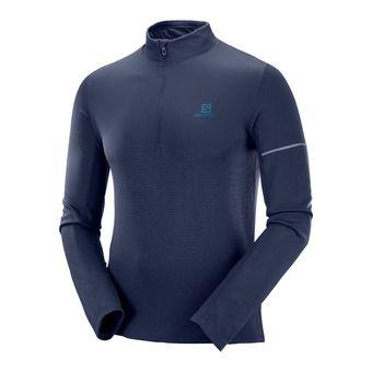 Salomon AGILE HZ MID - Camiseta térmica hombre night sky/poseidon