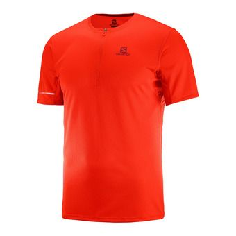 Maillot MC 1/2 zip homme AGILE HZ fiery red