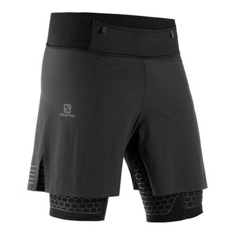 Salomon EXO TWINSKIN - 2 in 1 Shorts - Men's - black