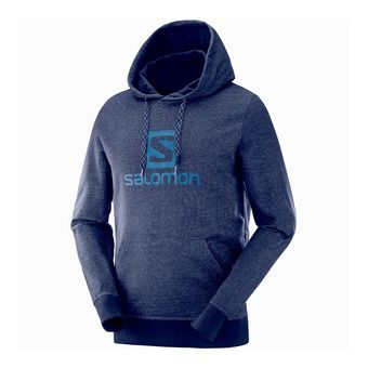 Salomon LOGO HOODIE - Sweat Homme night sky