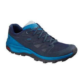 Salomon OUTLINE GTX - Chaussures randonnée Homme navy blaze/indigo bun
