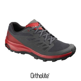 Chaussures randonnée homme OUTLINE ebony/rd dahlia/frost gray