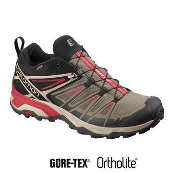 Salomon X ULTRA 3 GTX - Chaussures randonnée Homme bungee cord/vintage kaki/rd dahlia