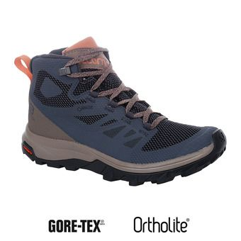 Hiking Shoes - Women's - OUTLINE MID GTX ebony/deep taup