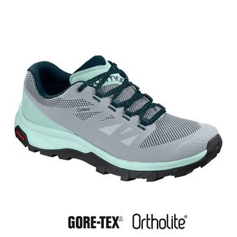 Salomon OUTLINE GTX - Hiking Shoes - Women's - pearl blue/icy morn