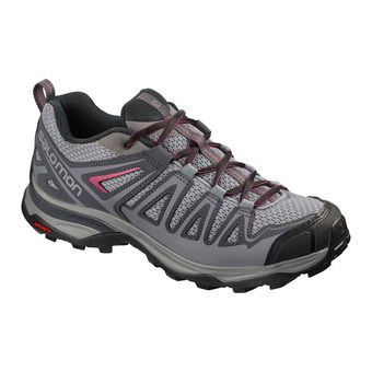 Salomon X ULTRA 3 PRIME - Hiking Shoes - Women's - alloy/ebony/malaga