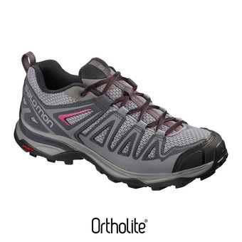 Salomon X ULTRA 3 PRIME - Zapatillas de senderismo mujer alloy/ebony/malaga