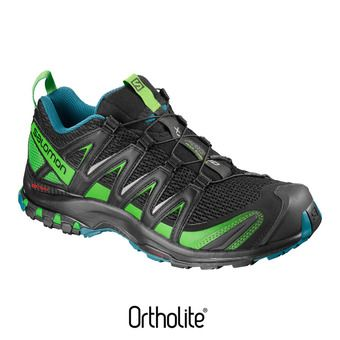 Chaussures trail homme XA PRO 3D bk/deep lagoo/onlime lim