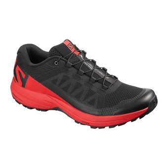 Salomon XA ELEVATE - Chaussures trail Homme black/high risk red/bk