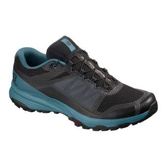Salomon XA DISCOVERY - Trail Shoes - Men's - black/mallard blue/ebony