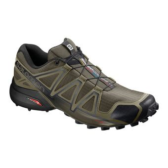 Salomon SPEEDCROSS 4 - Zapatillas de trail hombre leaf/burnt oliv