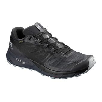 Salomon SENSE RIDE 2 INVISIBLE FIT GTX - Trail Shoes - Men's - ebony